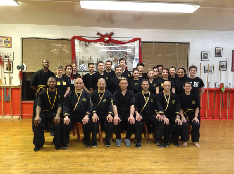 Heracles Stamatis at the Fu Jow Pai Kung Fu Headquarters, in New York